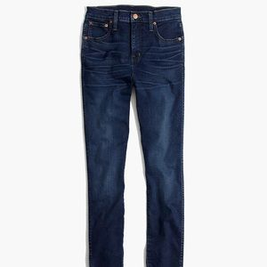 "Madewell 10"" High Rise Skinny Jeans in Hayes Wash"